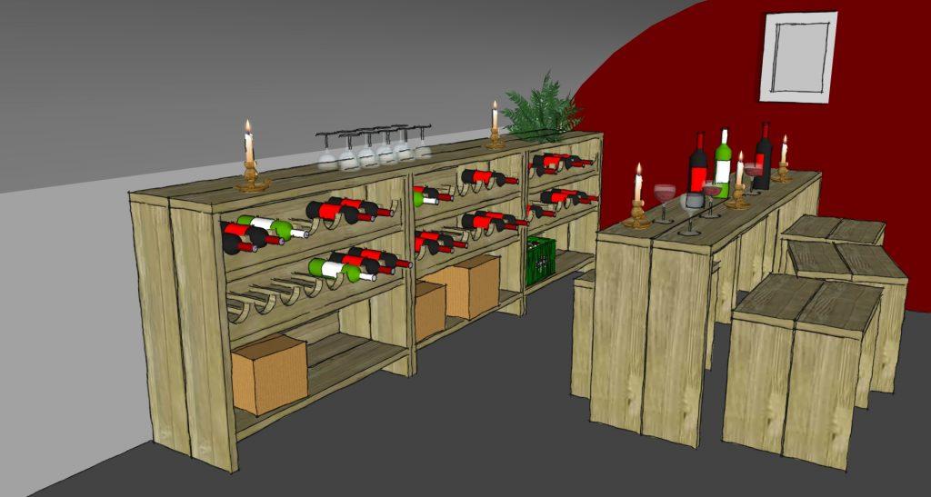Ontwerp wijnkelder in een oude boerderij for Wijnkelder ontwerp